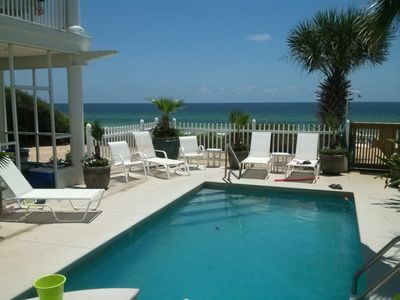 Photo for * PRIVATE POOL * GULF FRONT *  5 BR, 4.5 Bath Home Sleeps 14