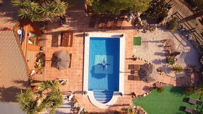 Photo for Unique Log Cabin in Alhaurin el Grande, Pool,+Terrace with Jacuzzi &Pool Table
