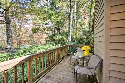 This area offers scenic views of lush landscape near the Blue Ridge Mountains.