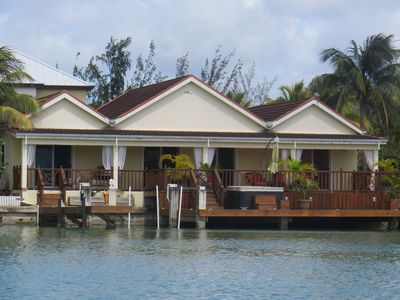 Photo for Spacious Waterfront Villa with Hydropool Spa Tub - Golf Cart optional