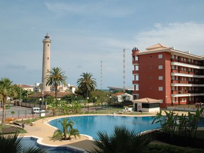 Photo for CANET PLAYA, ZONE FARO.  Comfortable apartment in private urbanization.