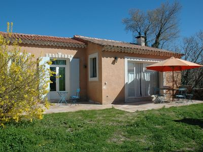 Photo for bright house with garden, village center, view on the Luberon.