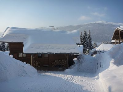 Photo for Chalet Sauterelles - Foosteps to Ski Slopes and Les Gets lake, 4 Bedrooms, Amazing View