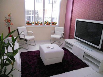 Living room with 52 in Plasma TV