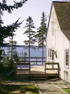The Post & Beam Salt Box Cottage/ Ocean in background