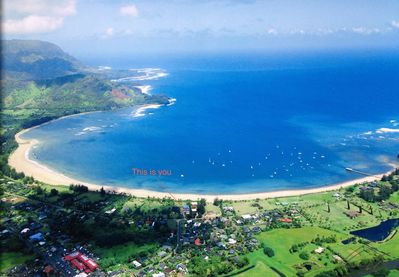 The BEST Hanalei Bay location possible, and only 150 feet to the beach!!!