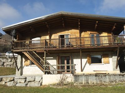Photo for authentic family chalet facing the Mont Blanc