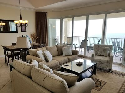 Photo for 20% OFF in AUGUST! STUNNING Tower 3 Penthouse_Close to Lagoon Pool_Large Balcony and BEACH CHAIRS!