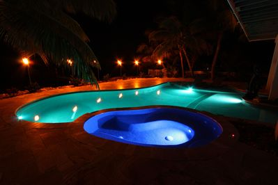 Who can resist the night swim!