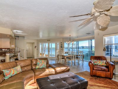Photo for Bay Views - Private access to Beach. Enjoy Tennis, Heated Pools, Fishing