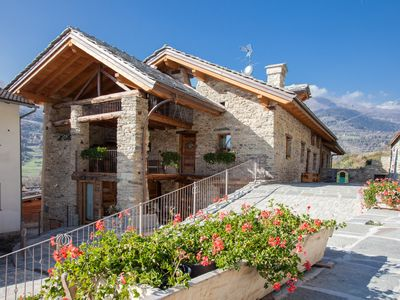 Photo for APARTMENTS WITH GARDEN AND SPA - 2 BEDROOMS - AOSTA NEARBY