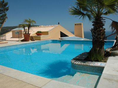 Photo for Recent decorated villa sea view, private pool and gardens near Lisbon and beach