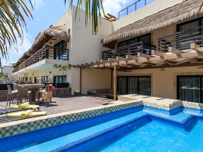 Photo for BEAUTIFUL CONDO with enormous terrace & private pool-Mamitas Beach