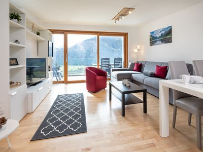 Photo for Apartment Berg & Tal -breathtaking view, cable car to Kitzbühel Alps and lake in 500m