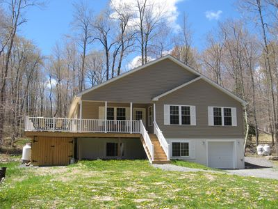 Photo for 5 Bedroom 3 Bath Sleeps 14+ Multi-Family Friendly Pocono Rental