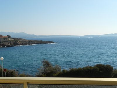 Photo for -Large BANDOL STUDIO - 2 PEOPLE PORTISSOL -View SEA VIEW -