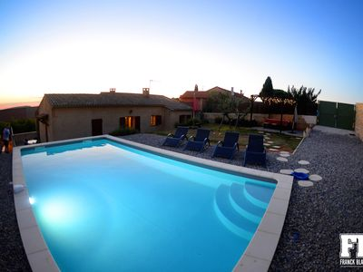 Photo for Roussillon: a house in the village centre for 4-6 with a garden & swimming pool