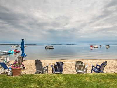 Photo for NEW! Beachfront Sebago Cottage w/ Deck + Grill!