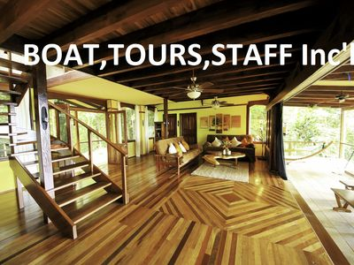 Photo for Discover Costa Rica: Boat, Tours & Staff Incl! Luxury Rainforest & Waterfront Hm