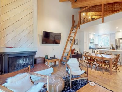 Photo for NEW LISTING! Spacious mountain condo w/deck/fireplace, shared pool/hot tub/sauna