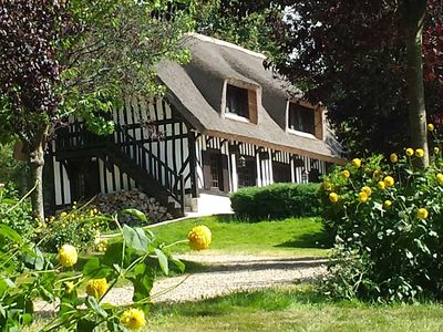 Photo for Lovely house for 6 people near Honfleur & Deauville in a nice countryside area
