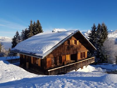 Photo for Charming cottage in Bettex - Near the slopes and Mont-Blanc view!