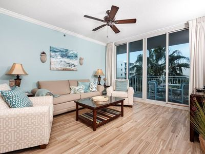 Photo for Breathtaking condo at Waterscape! Free Wi-Fi. Washer/dryer in-unit! Waterfall + lazy river on-site!