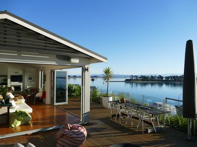 Photo for Waterfront Paradise, Sun, Decks and Spa