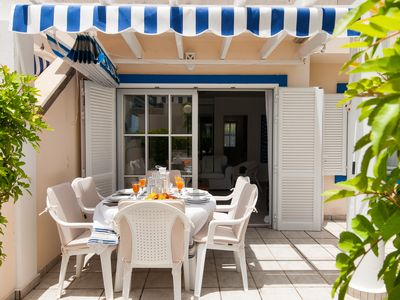 Photo for 3 BEDROOM BUNGALOW  WITH COMMUNAL POOL IN THE MARINA RESORT OF PASITO BLANCO