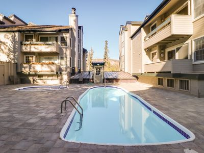 Photo for Cozy rental condo with a shared hot tub, sauna, and seasonal pool!