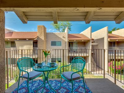 Photo for Large 2 Bedroom Courtyard View Steps from Scottsdale, Literally! Location Terrific!