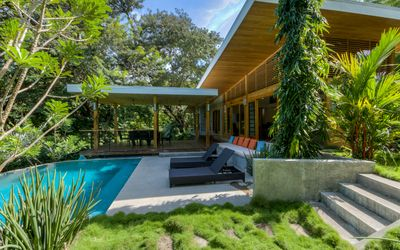 Photo for Tropical Modern Home w/pool steps to beach & surf