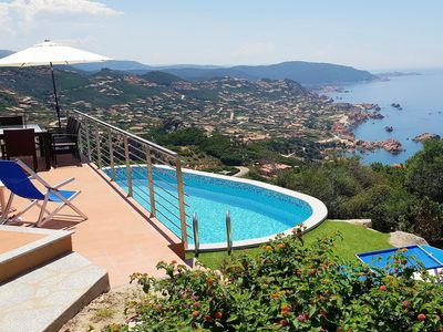 Photo for Villa Ilaria, private pool (solar heated), sea view, air conditioning