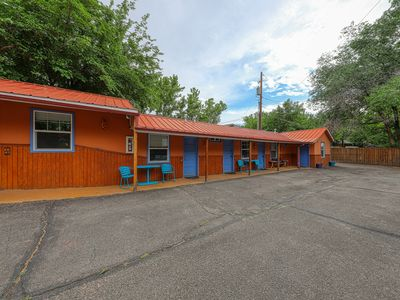 Photo for Eco-friendly studio w/ shared hot tub - right downtown, 5 miles to Arches!