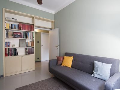 Photo for Spacious Borgo San Pietro apartment in Bologna with WiFi, air conditioning, balcony & lift.