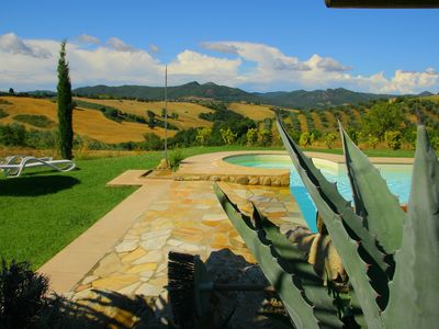 Photo for Relaxing farmhouse with swimming pool panoramic view near the sea Pisa Siena Florence