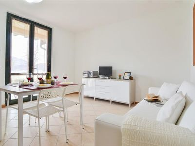 Photo for Cacao apartment in Lago d'Iseo with WiFi, private parking & private roof terrace.
