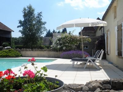 Photo for Beautiful Villa with swimming pool in Burgundy, France