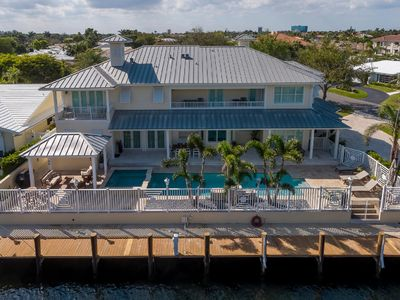 Photo for Modern Key West Style Waterfront Beach House- Walk to Beach, restaurants, shops
