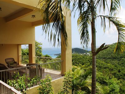 Photo for Sparkling Sunset Views, Swimming Pool, 2 Master Suites, Fully AC'd, Free WIFI, Beach Chairs