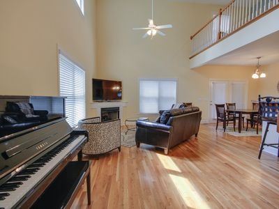 Everyone can be part of the party in this open-concept living area!
