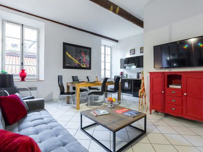 Photo for LARGE APARTMENT, MODERN, DESIGN, WIFI, ROSSETTI PLACE IN THE HEART OF OLD NICE