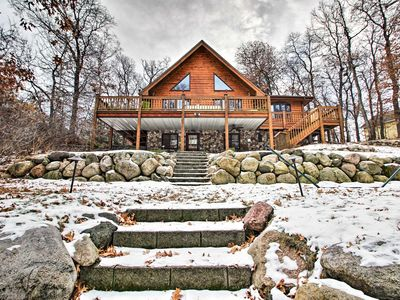 Photo for NEW! Breezy Point Cabin on Pelican Lake w/Pvt Dock