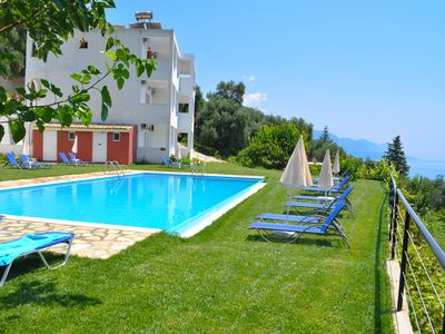 """Photo for Apartments in Pelekas Beach with pool """"adonis"""""""