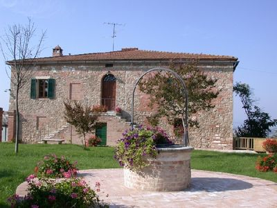 Photo for Tuscan house rental in Asciano near Siena - Holiday villa Asciano