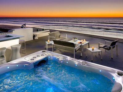 Photo for Beach Front Retreat w/ Rooftop Hot Tub + Amazing Views