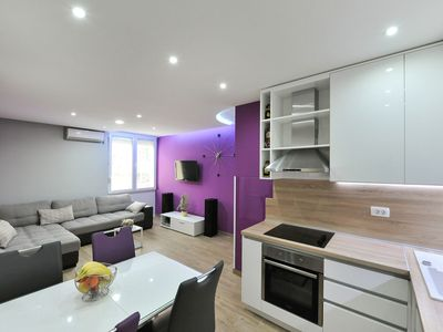Photo for Modern top floor apartment in Zadar old town, close to the sea, free Wi-Fi