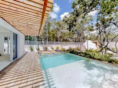 Photo for NEW LISTING! Peaceful home in nature w/ private jetted tubs, pool & grill