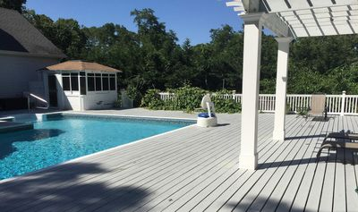 Country Club amenities. Pool with an expansive deck for entertaining