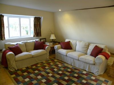 Sitting room with comfortable matching sofas
